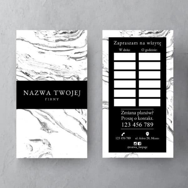 czarno-biały terminarzyk z marmurem