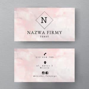 wizytówka w kolorze pastelowego różu