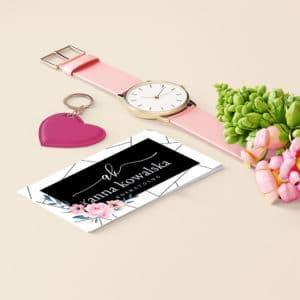minimalistyczna wizytówka dla kosmetologa