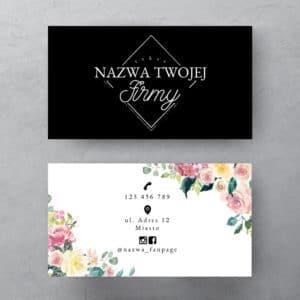 oryginalna wizytówka z kwiatowym wzorem