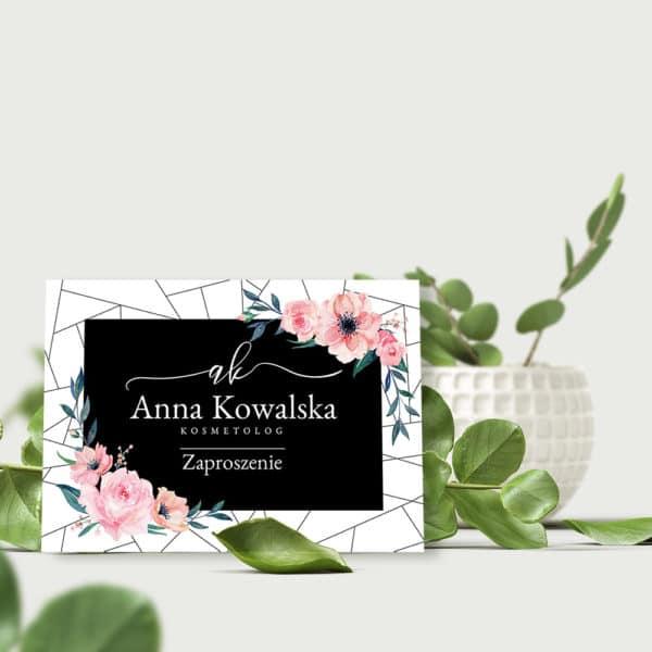 kwiatowy bon prezentowy dla kosmetologa