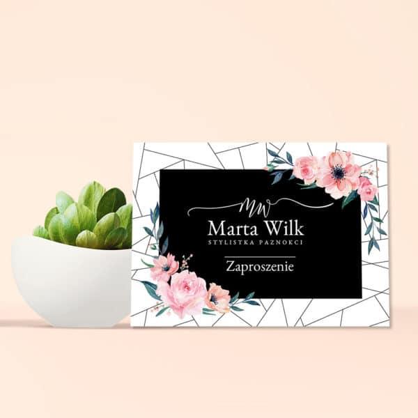 voucher prezentowy w kwiatuszki do studia urody