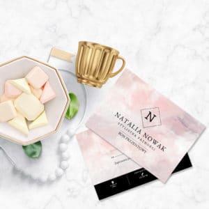 bon podarunkowy do salonu kosmetycznego różowy