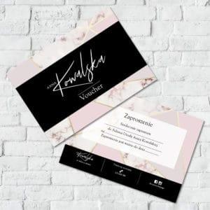 różowy marmur voucher do salonu kosmetycznego
