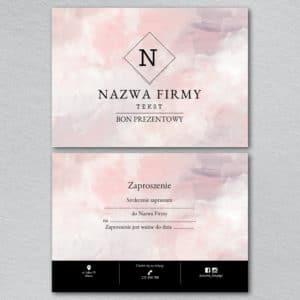 voucher prezentowy do salonu kosmetycznego różowy