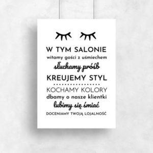Plakaty Na ścianę Do Salonu Kosmetycznego I Fryzjreskiego