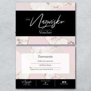 pudrowo różowy marmurek voucher do salonu kosmetycznego