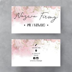 różowo pastelowa wizytówka