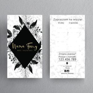 biały marmur terminarzyk czarne kwiaty