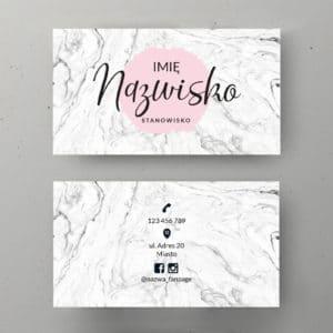blady róż logo biały marmur wizytówka