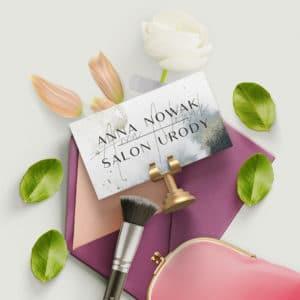 elegancka wizytówka dla kosmetologa