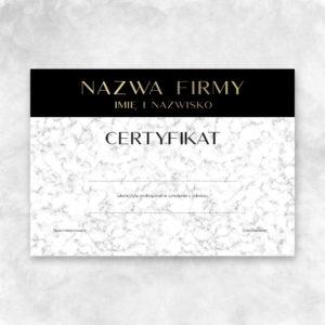eleganckie certyfikaty z marmurkiem