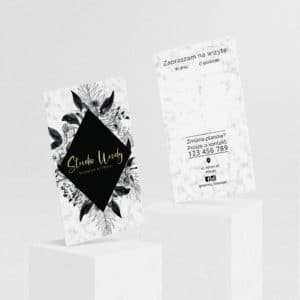 terminarzyk do studia urody złote logo czarne kwiaty