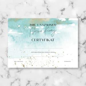artystyczne certyfikaty na kursy dla kosmetologów