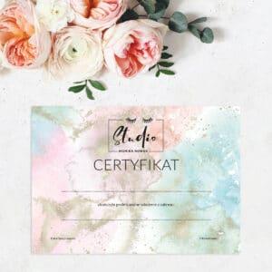 certyfikaty dla stylistki rzęs