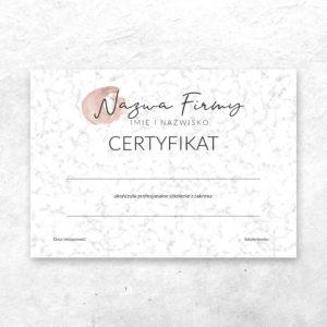 nowoczesne certyfikaty na warsztaty manicure