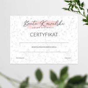 certyfikaty na szkolenia glamour