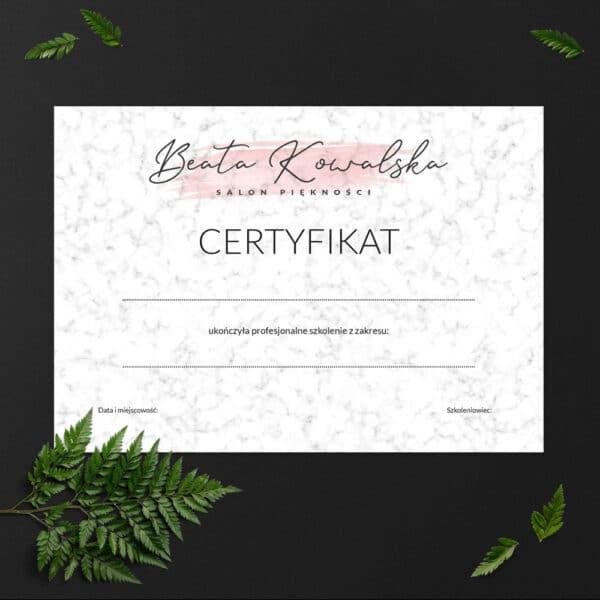 certyfikaty na szkolenia dla makijażystek