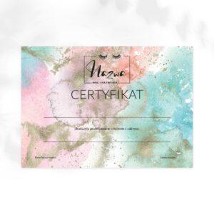 certyfikat ukończenia szkolenia dla tatuażystki