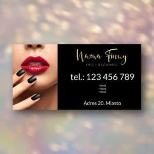 baner reklamowy czerwone usta i paznokcie