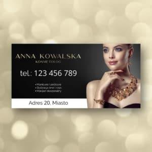 baner reklamowy dla kosmetologa w stylu glamour
