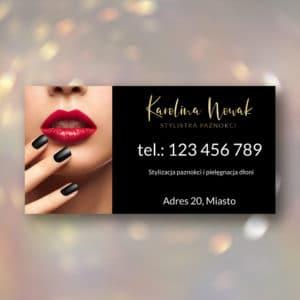 baner reklamowy dla stylistki paznokci