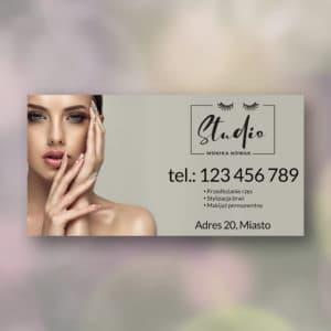 baner reklamowy do studia urody z piękna kobieta