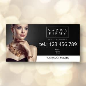 baner reklamowy do studia urody ze zdjęciem eleganckiej kobiety