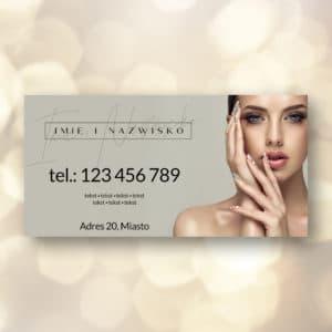 baner reklamowy z piękną kobieta do salonu kosmetycznego