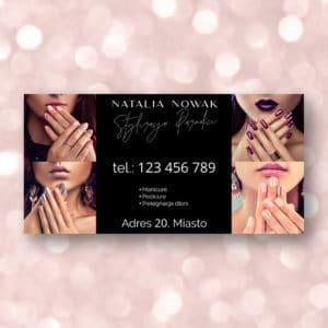baner reklamowy z pięknymi kobietami do salonu manicure