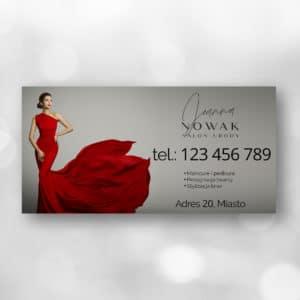 elegancki baner reklamowy do salonu urody