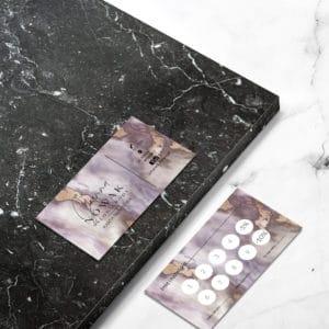 marmurkowa karta rabatowa dla kosmetologa