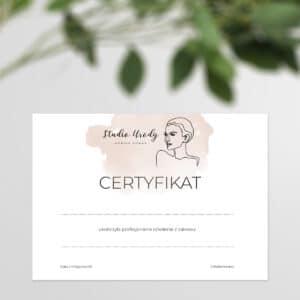 certyfikaty na szkolenia dla fryzjerek
