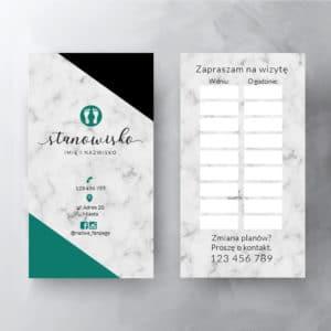 biały marmur turkusowe logo terminarzyk do studia podologicznego