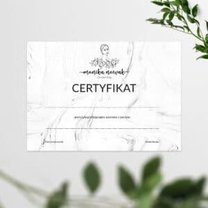 certyfikaty na szkolenia marmur