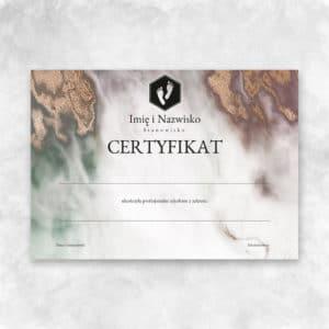 certyfikat na szkolenia podologiczne