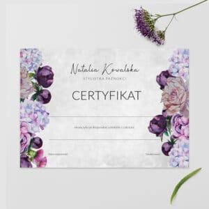 certyfikaty dla kosmetyczek