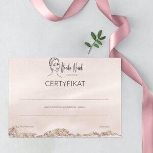 certyfikaty na warsztaty dla stylistki brwila st