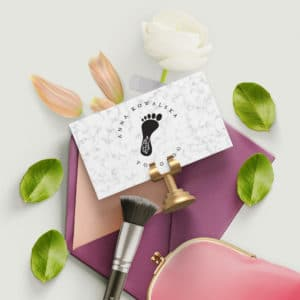 karta rabatowa dla klientów gabinetu podologicznego