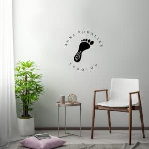 logo dla podologa na ścianę