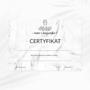 certyfikat dla kosmetologa