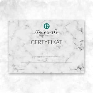 marmurkowy certyfikat na szkolenia podologiczne