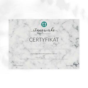 certyfikat dla podologa