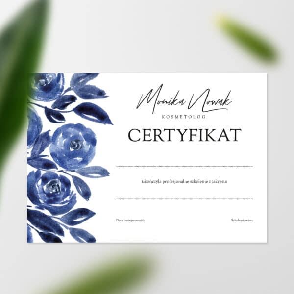 certyfikaty ukończenia szkolenia