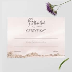 certyfikaty na szkolenia line art