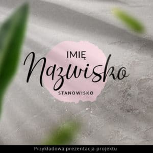 logo dla kosmetologa z pastelową plamą