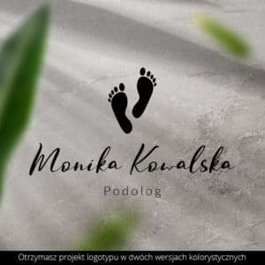 logo dla podologa stopy