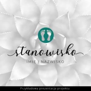 logo podologiczne turkusowe stopy