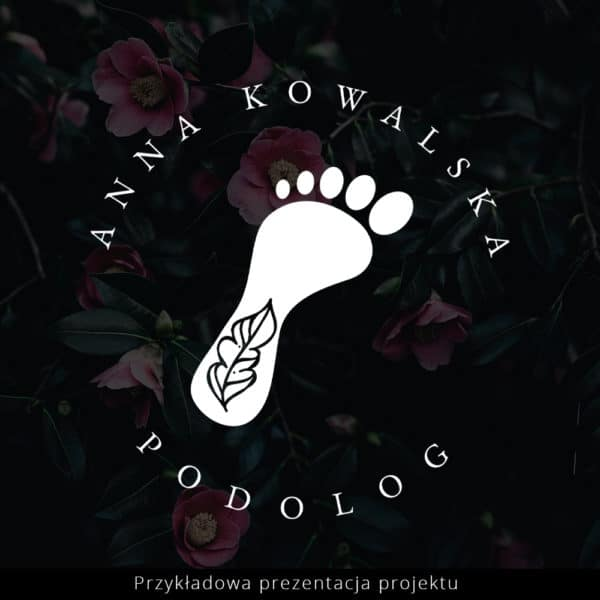 podologiczny logotop z nazwa firmy