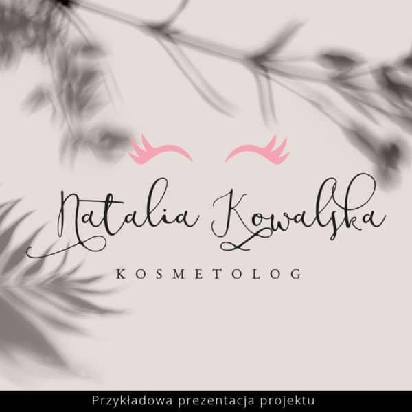 różowe logo dla stylistki rzęs